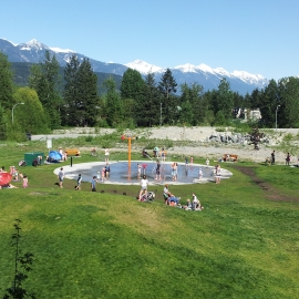water spray park at the Pemberton and District Community Centre