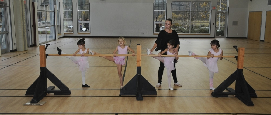 Children's ballet lesson at the Pemberton & District Community Centre