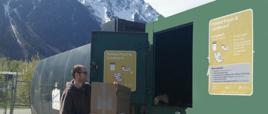 Marc recycling at the Pemberton Transfer Station
