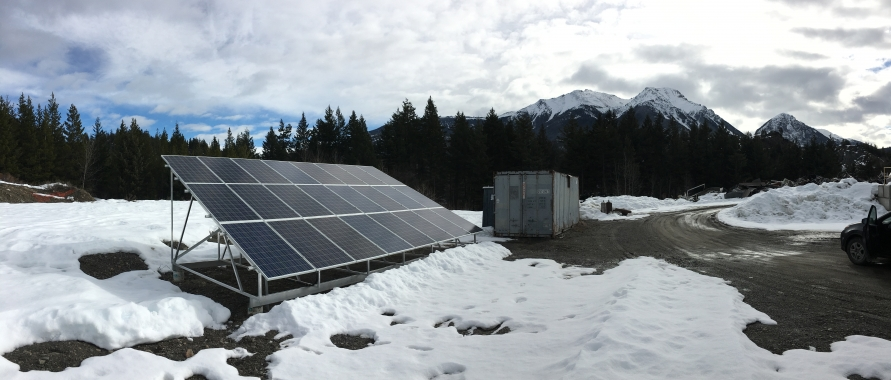 Solar project at the Gold Bridge Transfer Station